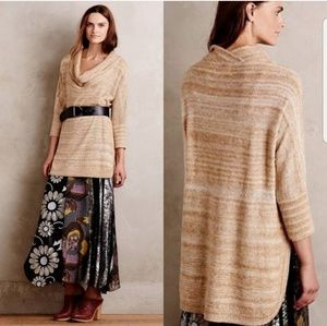Anthropologie field and flower cowl neck sweater